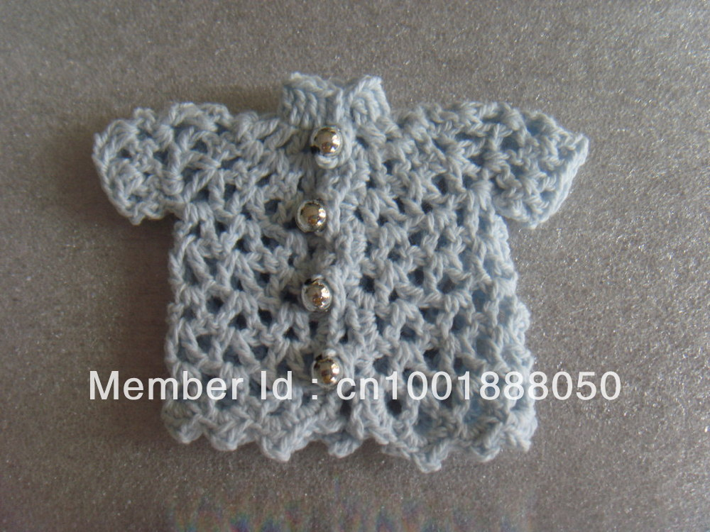 Mini Crochet Jacket Baptism Favors Mini Knitted Clothes Baby Shower Favors