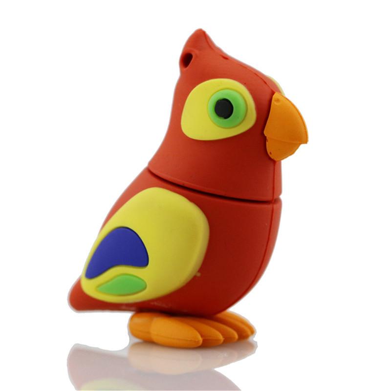 HOT!USB Flash Drive 4G 8G 16G 32G 64G Pen Drive Parrot Birds Memory Stick Thumb Drive Disk Pendrives USB 3.0 flash memory card(China (Mainland))