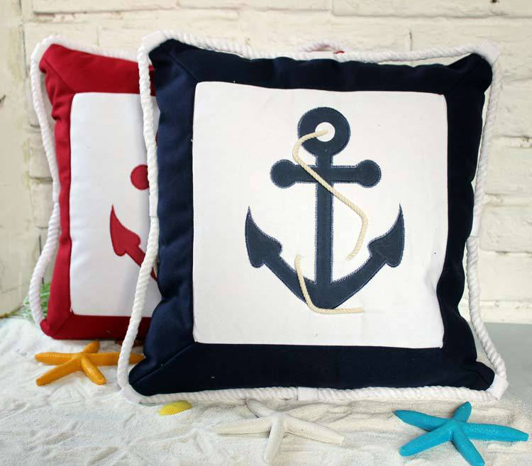 The new anchor pattern pillow cushion sofa cushions creative home decoration ornaments with Mediterranean-style cotton core(China (Mainland))