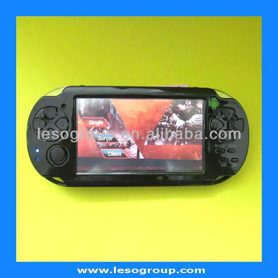 AN4304G HOT SELL android 4.0 4GB 4.3 Inch Handheld Game Player MP3 MP4 MP5 Player Wifi Camera Portable android Game Console(China (Mainland))
