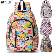2016 Children School Bags For Girls Boy High Quality Children Backpack Cartoon Tsum Primary School Backpack Mochila Infantil(China (Mainland))