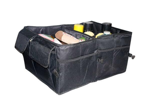 Multipurpose Car Boot Organiser Partition Collapsible Storage Box Trunk Bag Tool Free Shipping(China (Mainland))