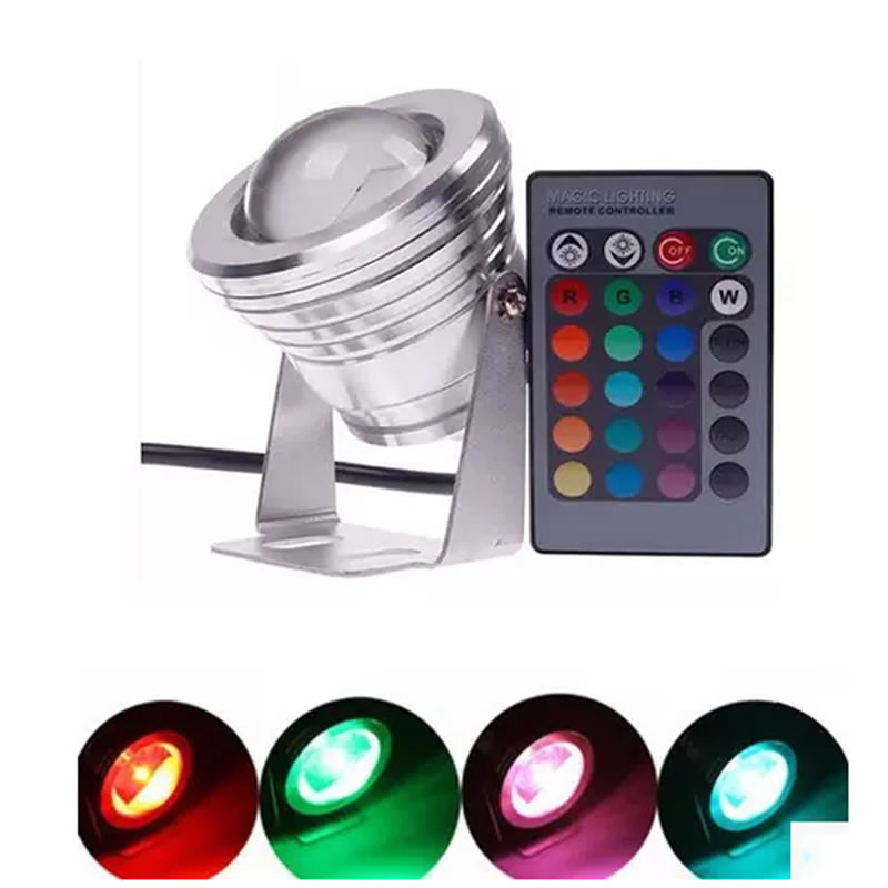 16 Colors Changing Led Ground Light RGB 10W DC12V Led Spot Light Waterproof I