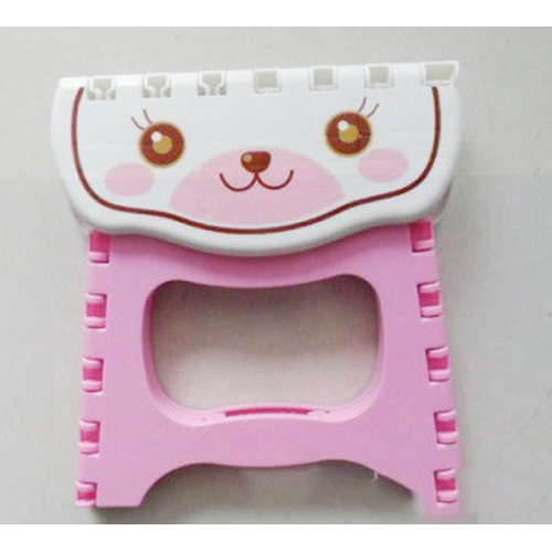 SZS Hot Cute Cartoon Cat Easy Foldable Children Step Very Firm Stool-Pink(China (Mainland))