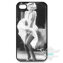 Beauty MARYLIN MONROE Black White cell phone bags case cover for Iphone 4S 5 5S 5C 6 Plus Samsung galaxy S3/4/5/6 Note2/3/4(China (Mainland))