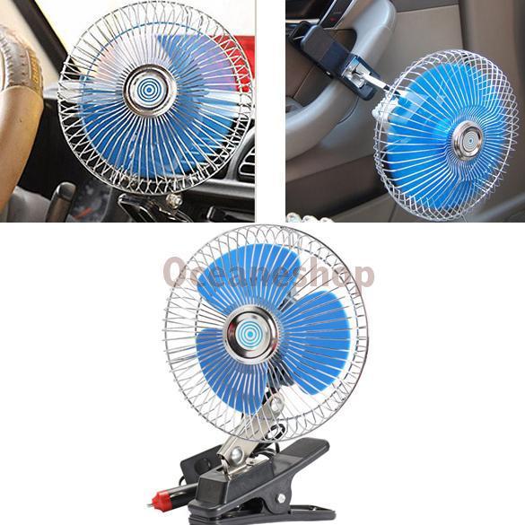 Portable Fan For Car : V portable vehicle auto car fan oscillating