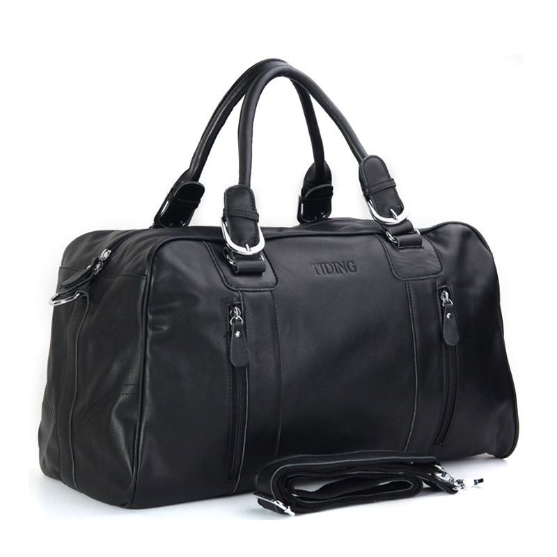 Здесь продается  large capacity business casual genuine leather travel bags carry on luggage handbag men