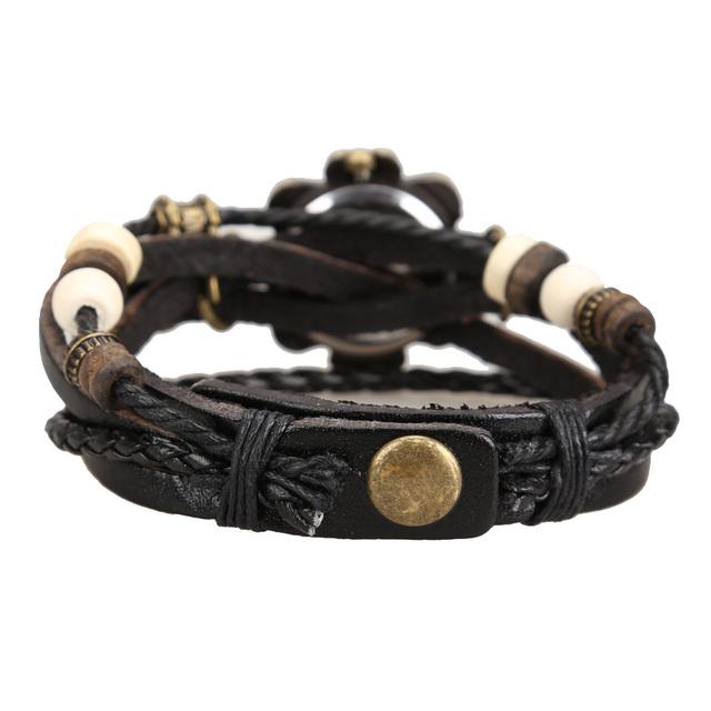 Wrap Butterfly Leather Strap Bracelet Wristwatch