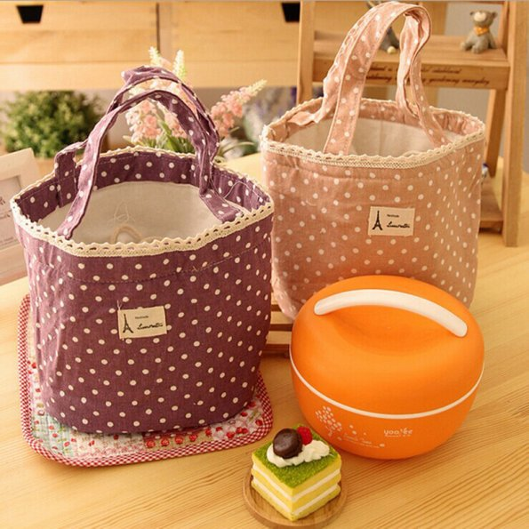 1 X New Portable Thermal Insulated Tote Pouch Cooler Lunch Box Storage Picnic Bag Multi-colors(China (Mainland))