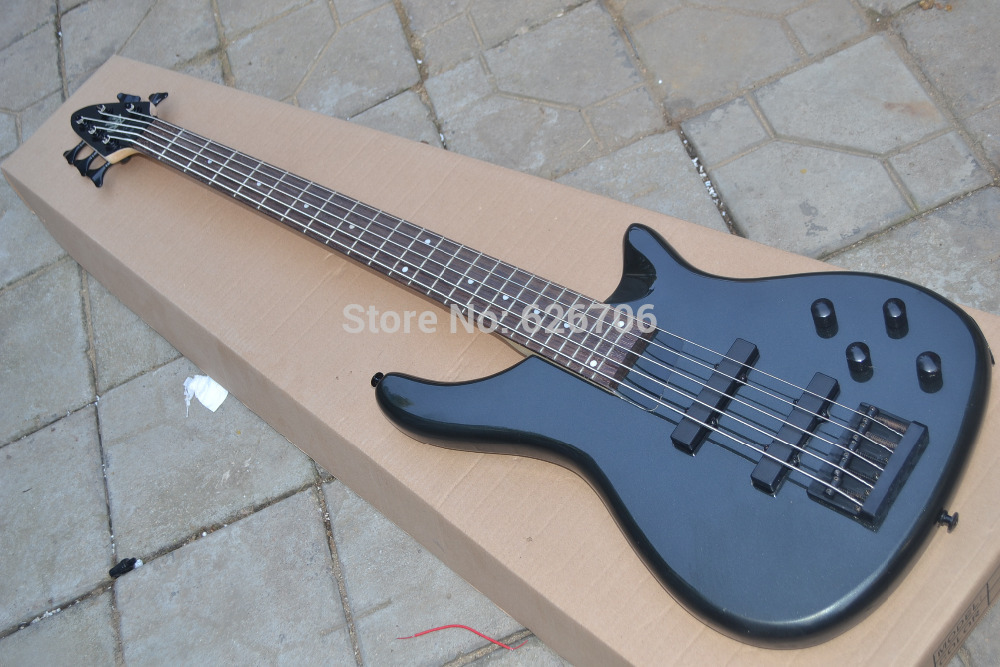 2014 NEW guitar Free Shipping black bass Electric Guitar 5 strings guitar OEM(China (Mainland))