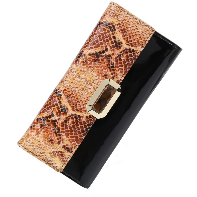 luxury brand women wallets genuine leather coin purse famous brand long womens purses real leather wallet(China (Mainland))