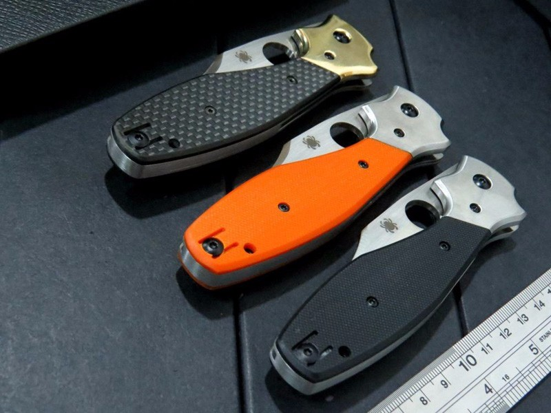 Buy Carbon Fiber Handle Spyder Folding c190 Tactical Knife Blade G10 Handle Knife Survival Camping Hunting Knives Tools EDC Tool cheap