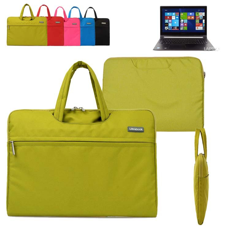 For Lenovo Edge 15/ Flex 2 3/ U530 Touch/ Z50 Y50 15.6'' Computer Case Canvas Fabric Sleeve Laptop Bag Travel Carrying Briefcase(China (Mainland))
