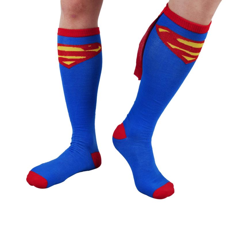Long funny batmen football basketball running sport soccer men women socks & hosiery wonder woman superman costume accessories(China (Mainland))