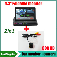 """Buy 2in1 4.3"""" Car mirror monitor + CCD car rearview parking reverse camera Mazda CX-5 CX 5 CX5 6 M6 X80 Waterproof night vision for $35.02 in AliExpress store"""