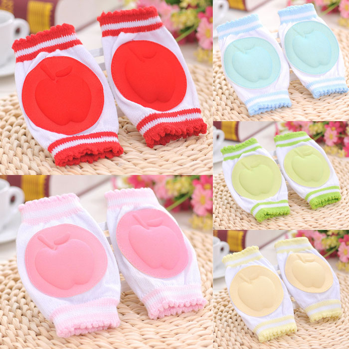 New Arrival 1pair Infant Toddler Baby Knee Elbow Pad Mesh Cushion Safety Protection Crawling Breathable(China (Mainland))
