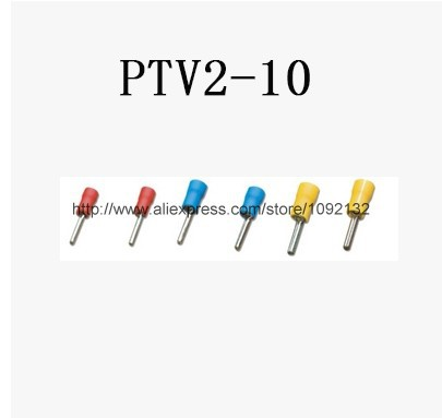 1000 x Blue Insulated Connector Crimped Pin Terminal PTV2-10 for AWG16-14 Wire<br><br>Aliexpress
