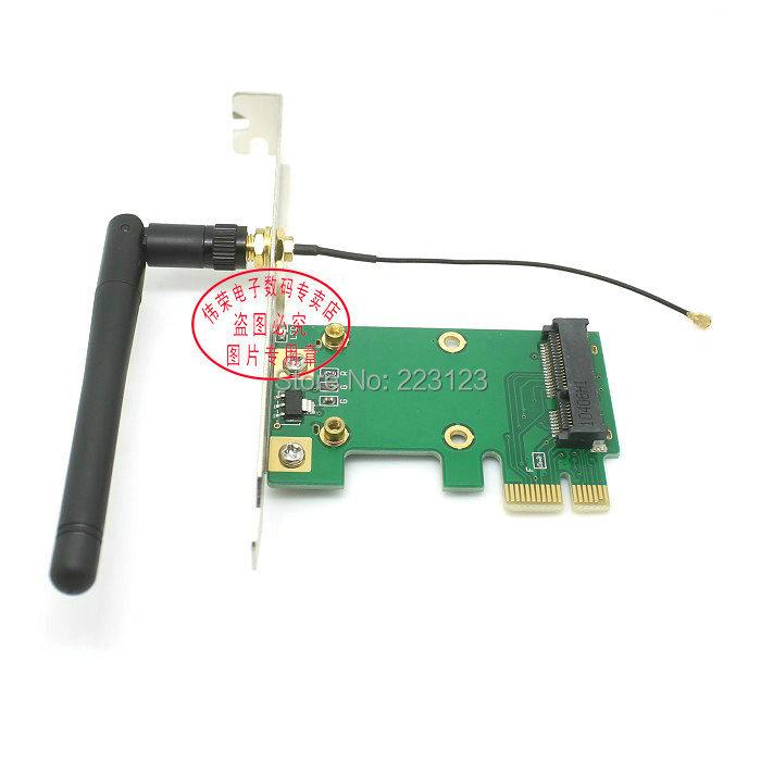 DF CABLE & PLUG Notebook mini PCI - E turn to PCI - E 1 x Chip cardWith antenna(China (Mainland))