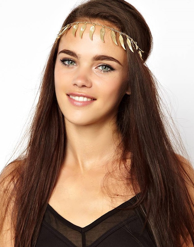 FD023 Europe and the United metallic angel wings fringed hair band ly(China (Mainland))
