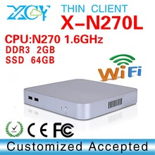 Fanless Design N270 2g ram 64g ssd wifi Mini Desktop Mini PC Computador Tablet Computer Support Win 7 XP Ubuntu