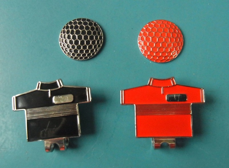 100 pieces/lot brand new metal unique golf ball markers T-shirt design(China (Mainland))