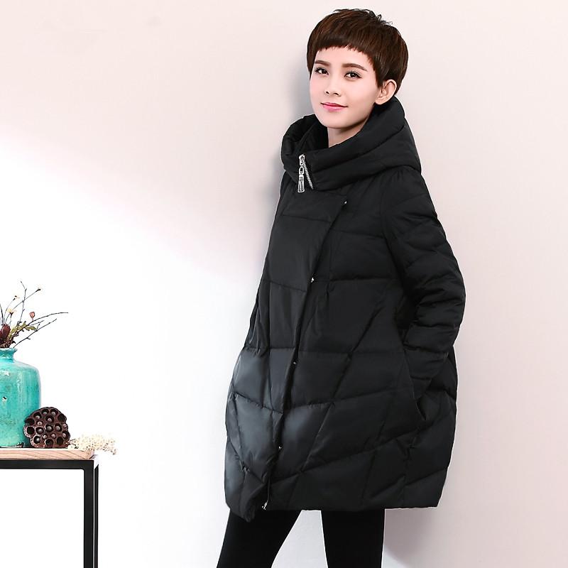 Warm Plus Size XL 2XL Winter Ladies Coats 2015 Loose Casual Duck Down Jacket Women Korean Long Cloak Parkas For Women Winter