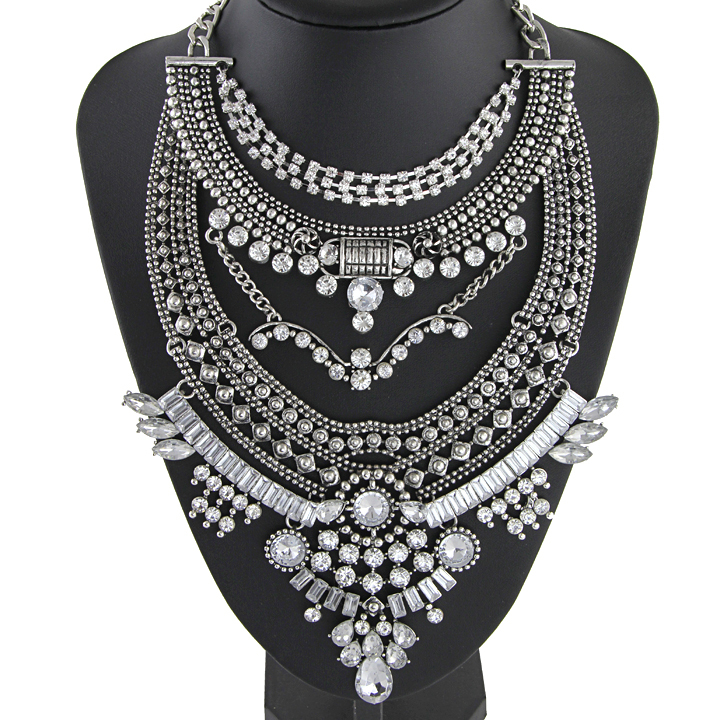 2015 new design rhinestone pendant necklace high quality vintage statement necklace Necklaces & Pendants for women NK921(China (Mainland))
