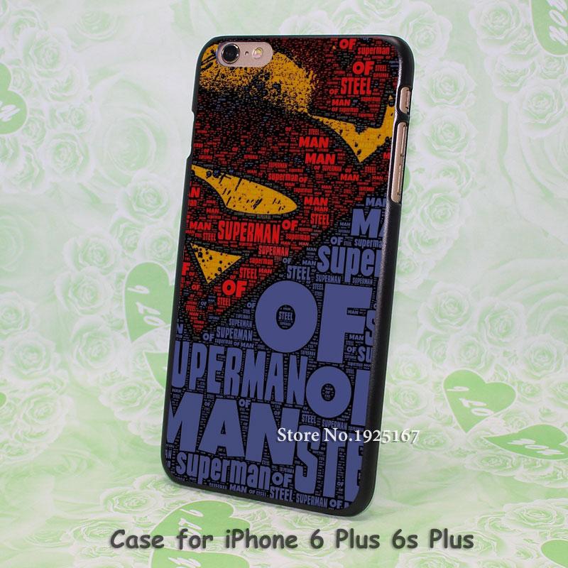 Graffiti Art superman logo Pattern hard black Case Cover for iPhone 4 4s 5 5s 5c 6 6s 6 Plus 6s Plus(China (Mainland))