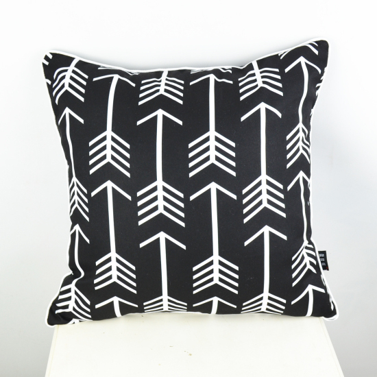 Decorative White Pillow Covers : Aliexpress.com : Buy 45*45 cm Home Textile Ikea Decorative Pillow Covers Black White Arrow ...