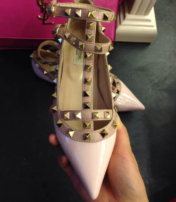 Гаджет  Rivet Loafers Flat Vintage Pointed Toe Brand Designer Ankle Strap Basic for Women Summer 2015 New Fashion Female Valentine Shoes None Обувь