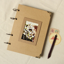 Handmade A4 diy paste type personality vintage photo album thin 2022711(China (Mainland))