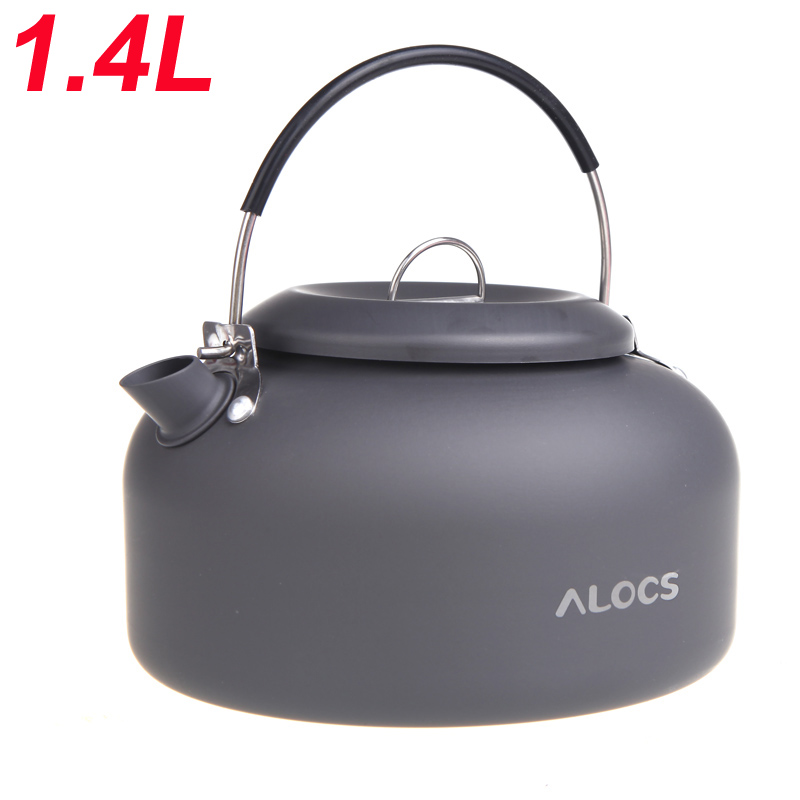 1.4L Alocs Aluminum CW-K03 Outdoor Kettle Camping Picnic Water Teapot Coffee Pot(China (Mainland))