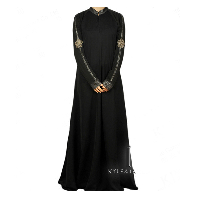 Fashion Muslim Dress <font><b>Abaya</b></font> in Dubai Islamic Clothing For Women Jilbab Djellaba Robe Musulmane Turkish Women Clothing Embroidery