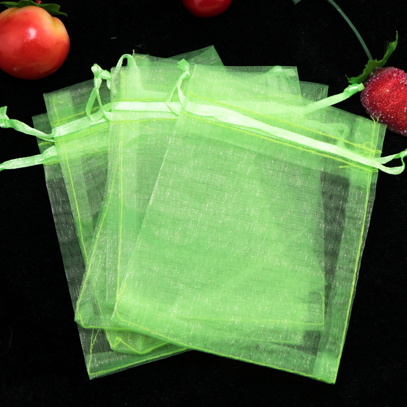 200pcs Apple Green Organza Bag 13x18cm Jewelry Package Bag Wedding Christmas Boutique Gift Packaging Organza Gift Bags & Pouches(China (Mainland))