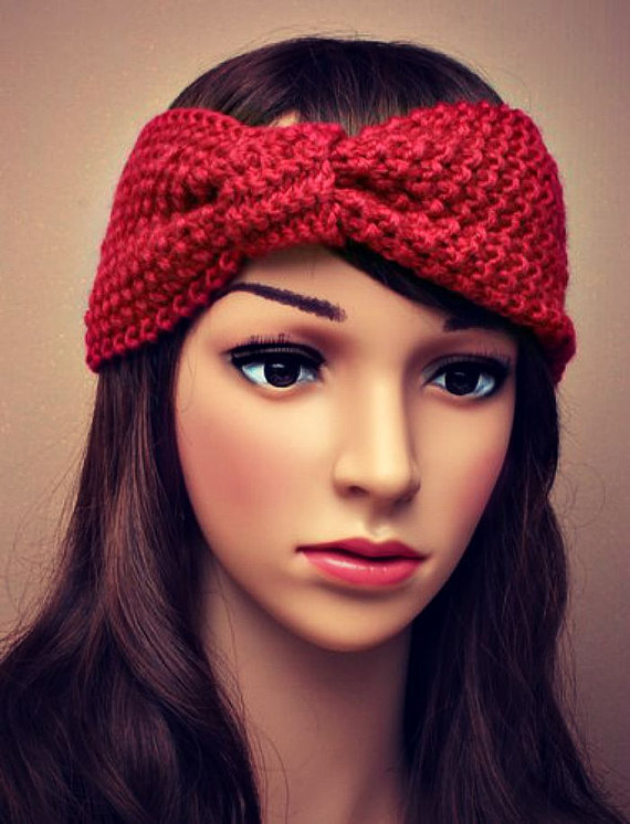 1pc BOHO Style Women Warm wool Bow Headband Crochet Turban For Hair accessories Girl scorn kernels knitted Women Headwrap(China (Mainland))