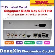 2015 Latest Model starhub cable box BlackBox C801 TV Box for Singapore box Upgrade of HDC600 Support Nagra3 Watch HD Channels(China (Mainland))