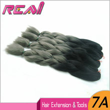"Ombre Xpression Jumbo Braids 24"" 6Pcs100G/Pc Synthetic Hair Two Tone Color Ombre Marley Braid Hair"