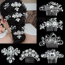 Silver Bridal Wedding Hair