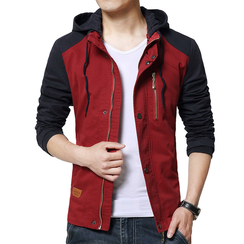 2016 New Arrive Slim fit Mens Hooded Jacket Top Design Outwear Coats Fashion Chaquetas Hombre High quality masculino Jacket Men(China (Mainland))