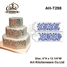 Gilded Floral Cake Stencil Set,Cake Side Stencil,Cake Border Kitchen Accessories , Wall Cake Decoration Tool Wholesale AH-T298