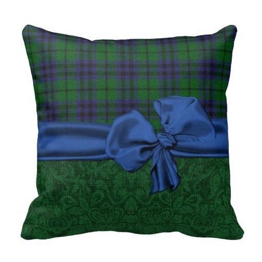 Worse Green Damask And font b Tartan b font Plaid Pillow Case Size 45x45cm Free Shipping