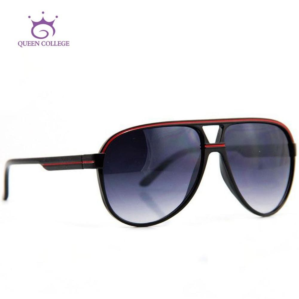 Queen College Newest Brand New Retro sunglasses men Fashion Popular line decoration glasses Oculos UV400 CE QC0062(China (Mainland))
