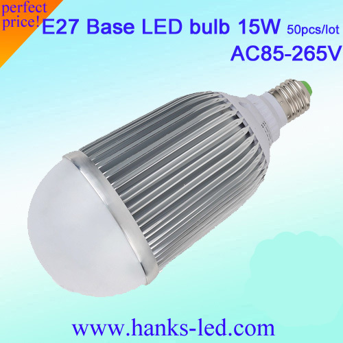 HKS big discount dimmable 15W led lamp 15W bulb 50pcs/lot free shipping(China (Mainland))