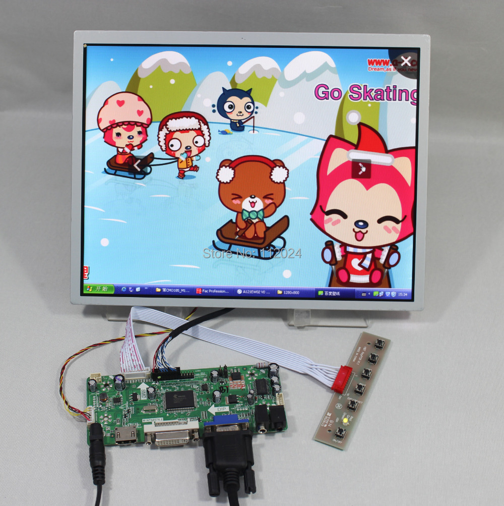 HDMI VGA DVI Audio lcd controller board NT6867612.1inch LQ121S1LG73 800x600 industrial lcd panel(China (Mainland))