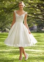 knee length wedding dress price