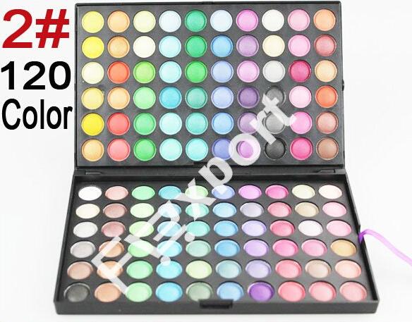 120 Color Eyeshadow 2# Cosmetics Mineral Make Up Makeup Eye Shadow Palette Kit(China (Mainland))