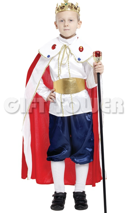 kids king costumes/ king cosplay costumes for boys/ boy performance clothing /children kigurumi cosplay costumes NINE--PIECE