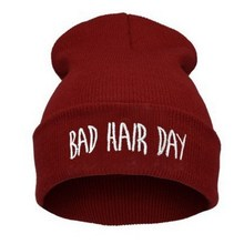 Hat Sport Winter Bad Hair Day Beanie Cap Men Hat Beanie Knitted Hiphop Winter Hats For Women Fashion Warm Caps Mask