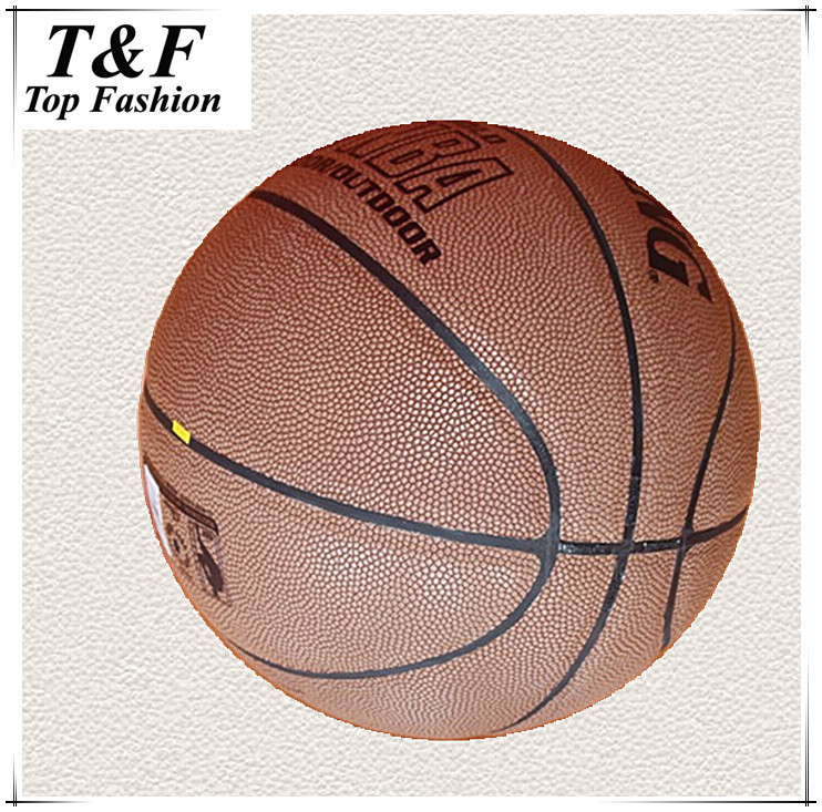 Free Shipping Genuine Leather Basketball Ball Cowhide Fiber Size 7 Basketball With Free gift of 1 ball pump+1pc net bag+pins.(China (Mainland))