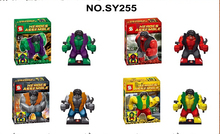 2015 New SY255 Big Hulk Super Heroes Parallel Worlds 4 pcs Blocks Bricks Toys Baby Toys Best Children Gift Toy(China (Mainland))